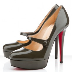 Replica Christian Louboutin Relika 140mm Mary Jane Pumps Green Cheap Fake Shoes