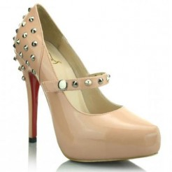 Replica Christian Louboutin Mad 120mm Mary Jane Pumps Pink Cheap Fake Shoes