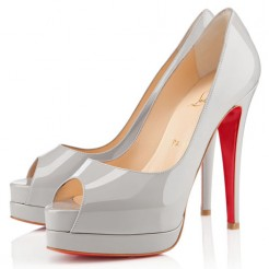 Replica Christian Louboutin Altadama 140mm Peep Toe Pumps Souris Cheap Fake Shoes