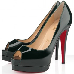 Replica Christian Louboutin Altadama 140mm Peep Toe Pumps Green Cheap Fake Shoes
