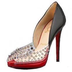 Replica Christian Louboutin Engin 120mm Peep Toe Pumps Black Cheap Fake Shoes