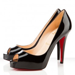 Replica Christian Louboutin Very Prive 120mm Peep Toe Pumps Black Cheap Fake Shoes
