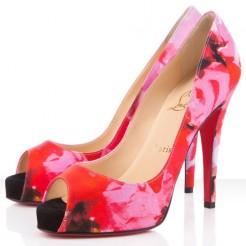 Replica Christian Louboutin Very Prive 120mm Peep Toe Pumps Pink Cheap Fake Shoes