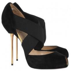 Replica Christian Louboutin Big Dorcet 120mm Peep Toe Pumps Black Cheap Fake Shoes