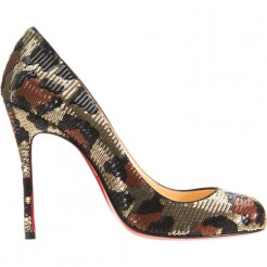 Replica Christian Louboutin Fifi 100mm Pumps Leopard Cheap Fake Shoes
