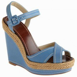 Replica Christian Louboutin Almeria 120mm Wedges Blue Cheap Fake Shoes