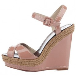 Replica Christian Louboutin Almeria 120mm Wedges Nude Cheap Fake Shoes