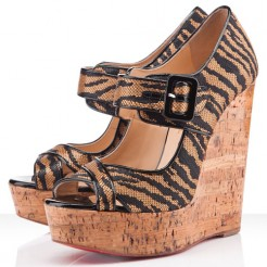 Replica Christian Louboutin Melides 140mm Wedges Brown Cheap Fake Shoes