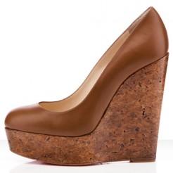 Replica Christian Louboutin Coroclic 140mm Wedges Fauve Cheap Fake Shoes