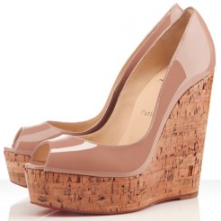 Replica Christian Louboutin Uue Plume 140mm Wedges Nude Cheap Fake Shoes