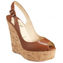 Replica Christian Louboutin Uue Plume 140mm Wedges Brown Cheap Fake Shoes