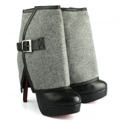 Replica Christian Louboutin Armony 140mm Ankle Boots Grey Cheap Fake Shoes