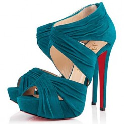 Replica Christian Louboutin Bandra 140mm Ankle Boots Caraibes Cheap Fake Shoes