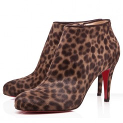 Replica Christian Louboutin Belle 80mm Ankle Boots Leopard Cheap Fake Shoes