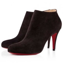 Replica Christian Louboutin Belle 80mm Ankle Boots Black Cheap Fake Shoes