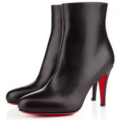 Replica Christian Louboutin Bello 80mm Ankle Boots Black Cheap Fake Shoes