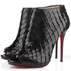 Replica Christian Louboutin Diplonana 120mm Ankle Boots Black Cheap Fake Shoes