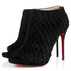 Replica Christian Louboutin Diplonana 120mm Ankle Boots Black Cheap Fake Shoes