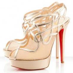 Replica Christian Louboutin Brandaplato 140mm Ankle Boots Platine Cheap Fake Shoes