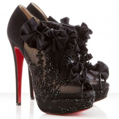 Replica Christian Louboutin Margot 140mm Ankle Boots Black Cheap Fake Shoes