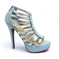 Replica Christian Louboutin Romaine 140mm Ankle Boots Blue Cheap Fake Shoes