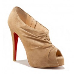 Replica Christian Louboutin Treopli 120mm Ankle Boots Camel Cheap Fake Shoes