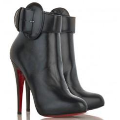 Replica Christian Louboutin Trottinette 140mm Ankle Boots Black Cheap Fake Shoes