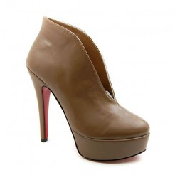 Replica Christian Louboutin Miss Fast Plato 120mm Ankle Boots Brown Cheap Fake Shoes