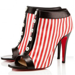 Replica Christian Louboutin Maotic 120mm Ankle Boots Red Cheap Fake Shoes