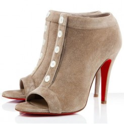 Replica Christian Louboutin Maotic 120mm Ankle Boots Camel Cheap Fake Shoes