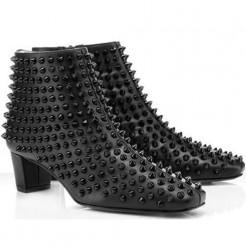 Replica Christian Louboutin Aioli 40mm Ankle Boots Black Cheap Fake Shoes