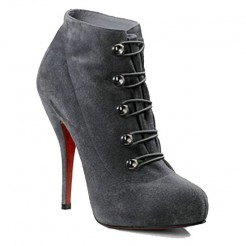Replica Christian Louboutin Fifre Corset 120mm Ankle Boots Grey Cheap Fake Shoes