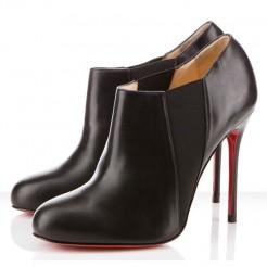 Replica Christian Louboutin Lastoto 100mm Ankle Boots Black Cheap Fake Shoes