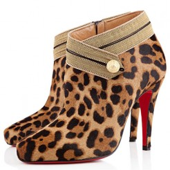 Replica Christian Louboutin Marychal 100mm Ankle Boots Black Cheap Fake Shoes