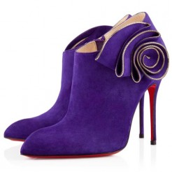 Replica Christian Louboutin Mrs Baba 100mm Ankle Boots Parme Cheap Fake Shoes