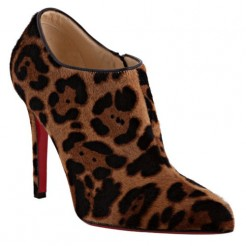 Replica Christian Louboutin Dahlia 100mm Ankle Boots Leopard Cheap Fake Shoes