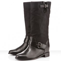 Replica Christian Louboutin Ajasmine 80mm Boots Black Cheap Fake Shoes