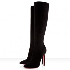 Replica Christian Louboutin Pigalle Botta 120mm Boots Black Cheap Fake Shoes