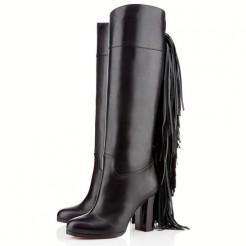 Replica Christian Louboutin Glamafrange 80mm Boots Black Cheap Fake Shoes