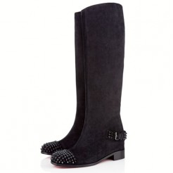 Replica Christian Louboutin Egoutina 40mm Boots Black Cheap Fake Shoes