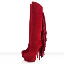 Replica Christian Louboutin Interlopa 160mm Boots Moroccan Red Cheap Fake Shoes