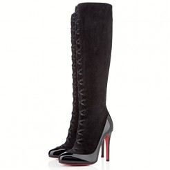 Replica Christian Louboutin Gwendoline 100mm Boots Black Cheap Fake Shoes