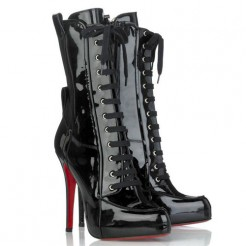 Replica Christian Louboutin Avedere 120mm Boots Black Cheap Fake Shoes