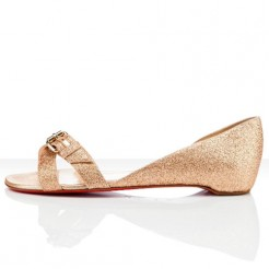 Replica Christian Louboutin Atalanta Flat Sandals Nude Cheap Fake Shoes
