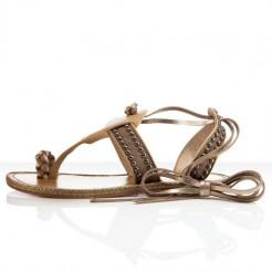 Replica Christian Louboutin Hola nina Flat Sandals Camel Cheap Fake Shoes