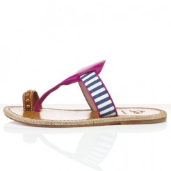 Replica Christian Louboutin Hola nina Flat Sandals Parme Cheap Fake Shoes