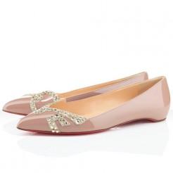 Replica Christian Louboutin Pigalove Ballerinas Nude Cheap Fake Shoes