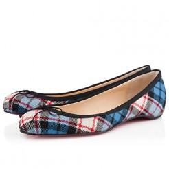 Replica Christian Louboutin Sonietta Ballerinas Blue Cheap Fake Shoes