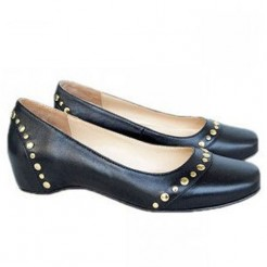 Replica Christian Louboutin Mousse Clou Ballerinas Black Cheap Fake Shoes