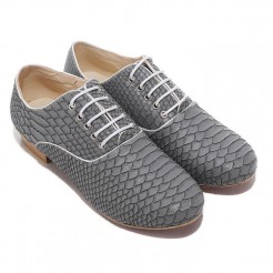 Replica Christian Louboutin Alfredo Loafers Grey Cheap Fake Shoes